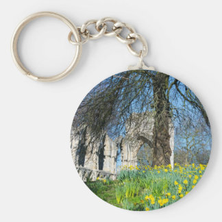 Spring in Museum Gardens Basic Round Button Keychain