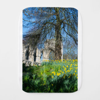 Spring in Museum Gardens Burp Cloth