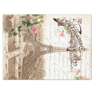 Spring in Paris Decoupage Tissue Paper