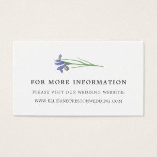Spring Iris | Floral Wedding Website Cards
