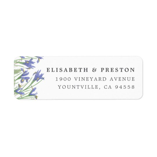 Spring Iris | Watercolor Floral Return Address