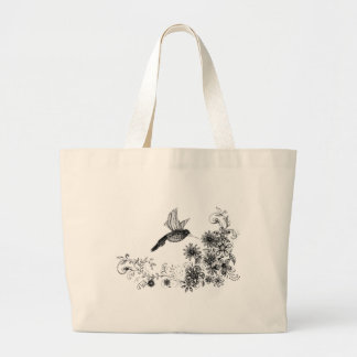 Spring is a humming! large tote bag