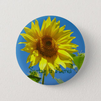 Spring is here! - Springtime sunflowers 2 Inch Round Button