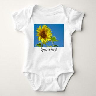 Spring is here! - Springtime sunflowers Baby Bodysuit