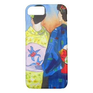 Spring kimono Japanese Geisha art iPhone 7 Case