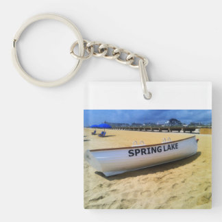 Spring Lake Boat Jersey Shore Keychain