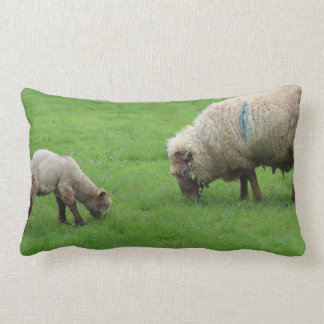 Spring Lamb and Sheep Lumbar Pillow