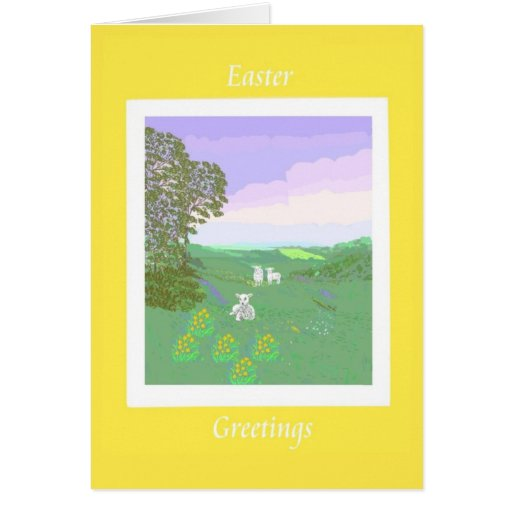 Spring Lambs Easter Card