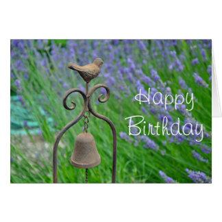 Spring lavendar garden card