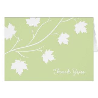 Spring Leaf Branch Thank You Card