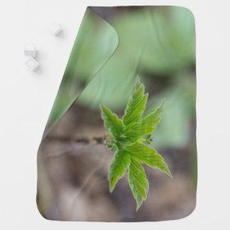 Spring Leaves Baby Blanket