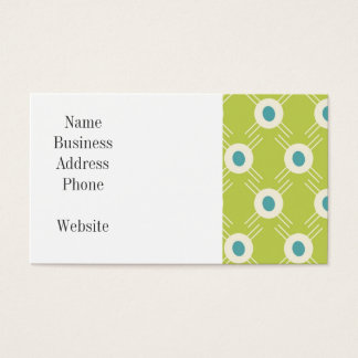 Spring Lime Green Blue Circles Mother's Day Gift Business Card