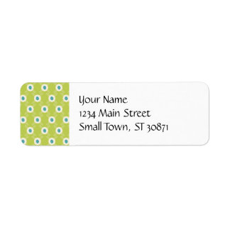 Spring Lime Green Blue Circles Mother's Day Gifts