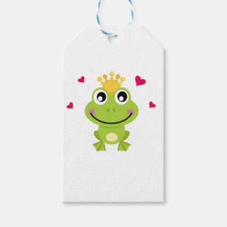 Spring little green Frog in love Gift Tags