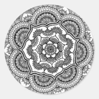Spring Lotus Classic Round Sticker