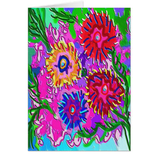 Spring Love For You -  Vibrant Foral Romance V1 Card