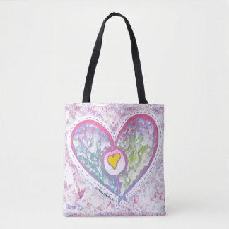 Spring love tote bag