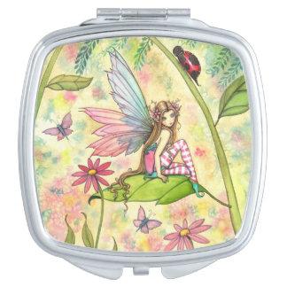 Spring Magic Fairy Fantasy Art Vanity Mirror