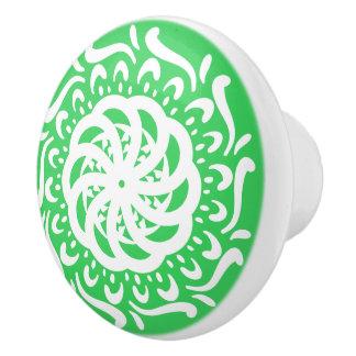 Spring Mandala Ceramic Knob