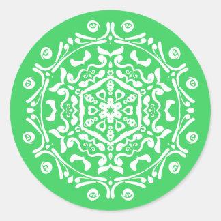 Spring Mandala Classic Round Sticker