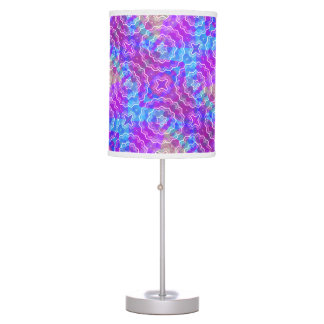 Spring Mandala Kaleidoscope Pattern Print Table Lamp