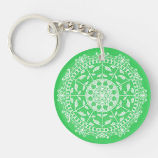 Spring Mandala Keychain