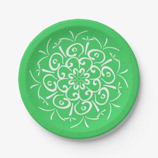 Spring Mandala Paper Plate