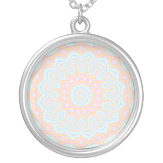 Spring Mandala Silver Plated Necklace
