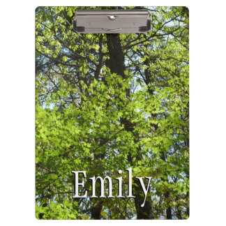 Spring Maple Leaves Green Nature Clipboard