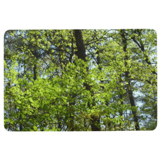 Spring Maple Leaves Green Nature Floor Mat
