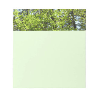Spring Maple Leaves Green Nature Notepad
