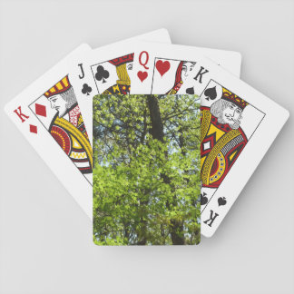 Spring Maple Leaves Green Nature Playing Cards
