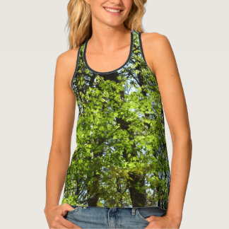 Spring Maple Leaves Green Nature Tank Top