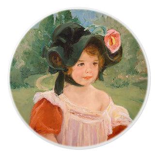 """""""Spring: Margot Standing in a Garden"""" Ceramic Knob"""