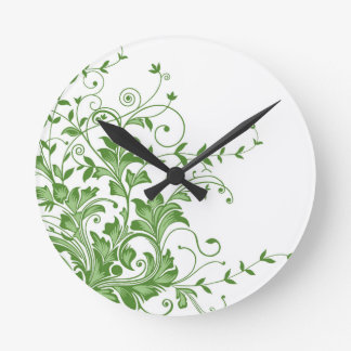 Spring Meadow Round Clock