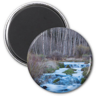 Spring Melt Off Flowing Down From Bonanza 2 Inch Round Magnet