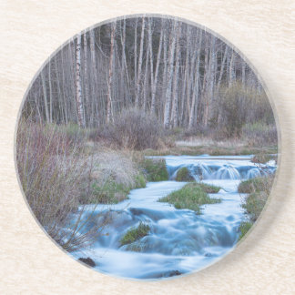 Spring Melt Off Flowing Down From Bonanza Drink Coasters