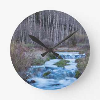 Spring Melt Off Flowing Down From Bonanza Round Clock