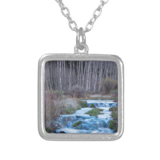 Spring Melt Off Flowing Down From Bonanza Silver Plated Necklace