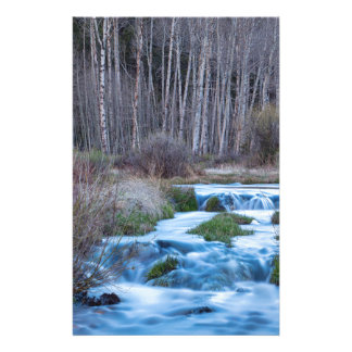 Spring Melt Off Flowing Down From Bonanza Stationery
