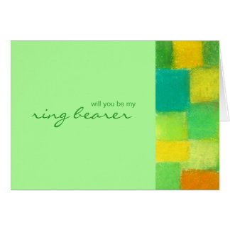 Spring mint Be My Ring Bearer Card