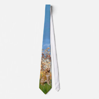 Spring (Monet) - Golden Retriever Tie