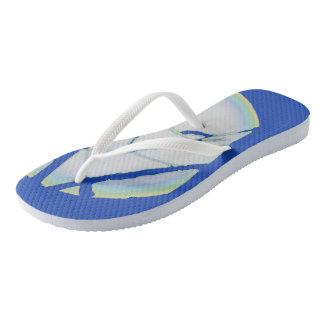 """Spring Moon"" Pale -Flip Flops, Purple Blue Flip Flops"