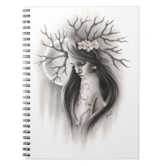 Spring Moon Spiritual End of the beginningNotebook Spiral Notebook