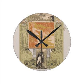 Spring morning by Koloman Moser Wall Clock