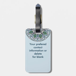 Spring Morning Medallion Luggage Tag