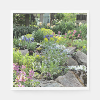 Spring Northside Cottage Rock Garden Napkin