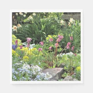 Spring Northside Cottage Rock Garden Paper Napkin