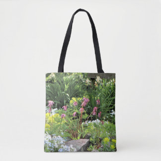 Spring Northside Cottage Rock Garden Tote Bag