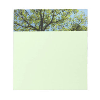 Spring Oak Tree Green Nature Scene Notepad